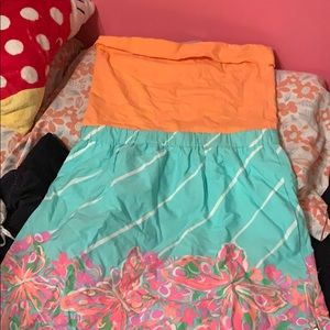 Lily strapless dress with pockets